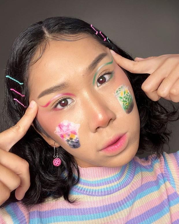 Makeup terinspirasi dari makanan ala MUA Nia Ingrid.