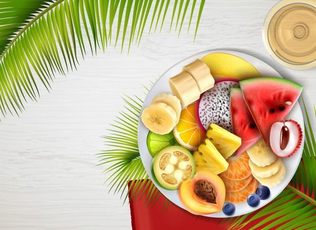 sajian salad buah