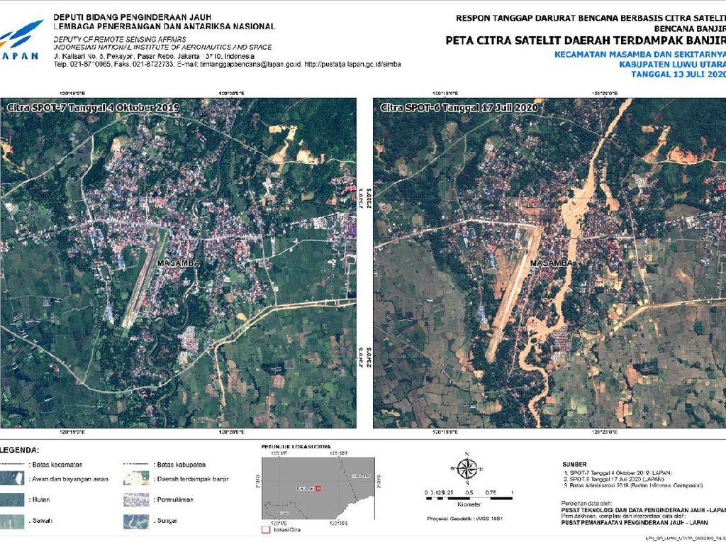 Potret Kerusakan Banjir Bandang Masamba dari Antariksa
