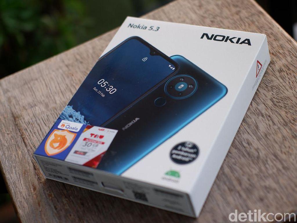 Unboxing Nokia 5.3,  Harga Rp 3 Juta Dijanjikan Dapat Android 11