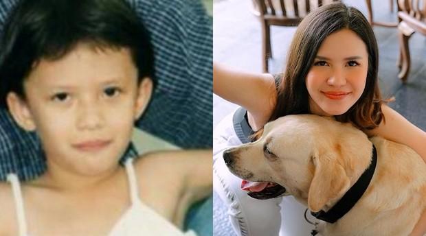 potret masa kecil Michelle Joan pemain sinetron Ganteng Ganteng Serigala