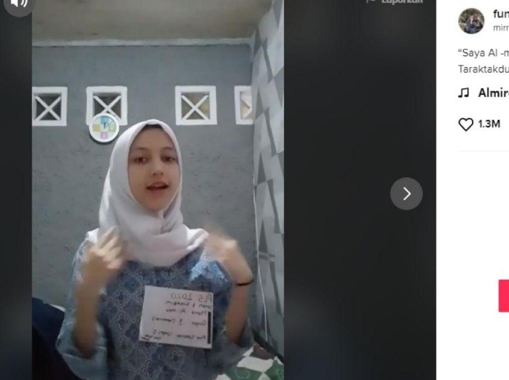 Viral Joget TikTok Taraktakdung  Almira Peserta MPLS SMAN 3 Sukabumi