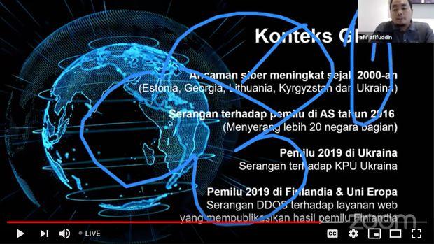 Diskusi Publik Keamanan Siber Teknologi Pilkada 2020 yang diadakan Perludem disusupi oleh peretas