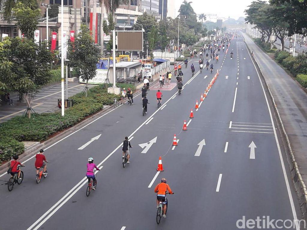 Jalur Sepeda Sudirman-Thamrin Kembali Diperpanjang Hingga Medan Merdeka Barat