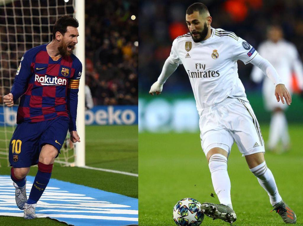 Final Persaingan Pichichi: Messi atau Benzema
