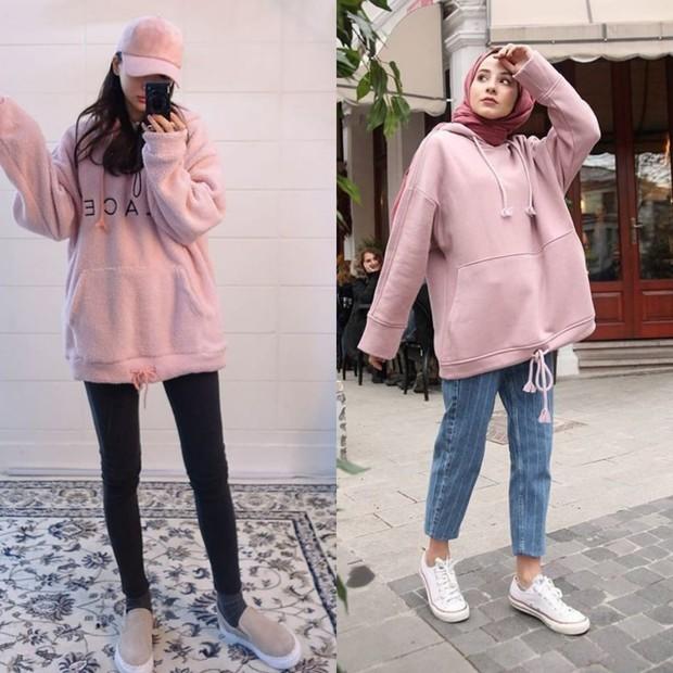 oversize hoodie ala Korea
