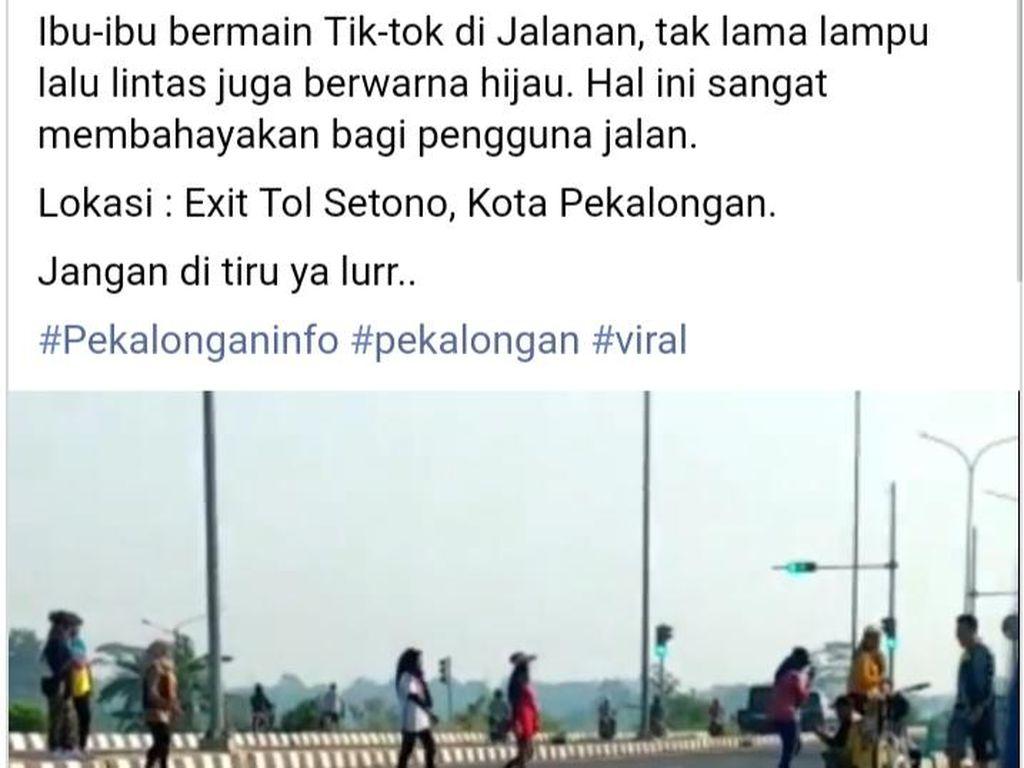 Joget Santuy Emak-emak di Exit Tol Setono, Demi Bikin Konten TikTok