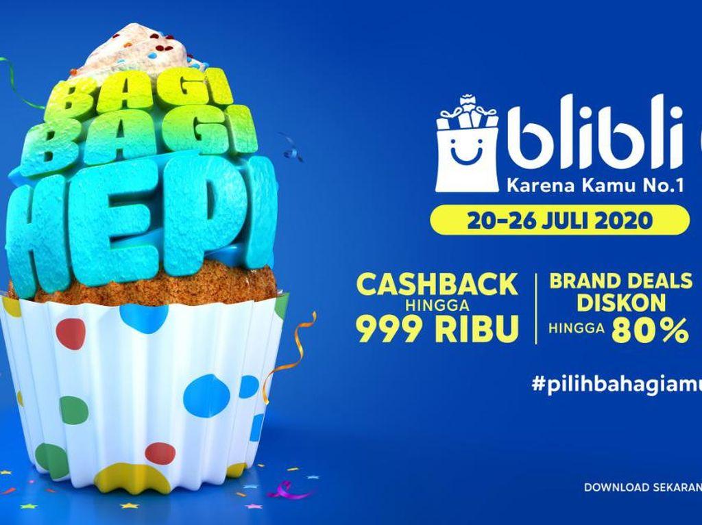 Ulang Tahun ke-9, Blibli Bagi-bagi Diskon-Cashback hingga Rp 999.000