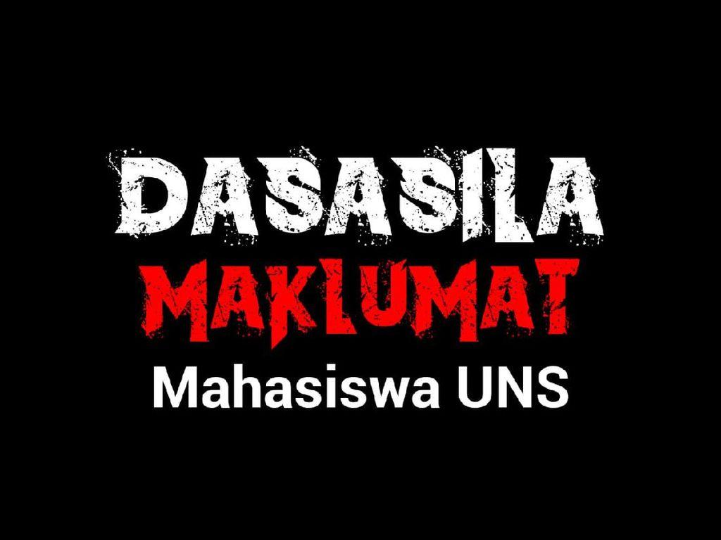 10 Tuntutan Aksi Mahasiswa UNS yang Usung #UniversitasNggaweSusah