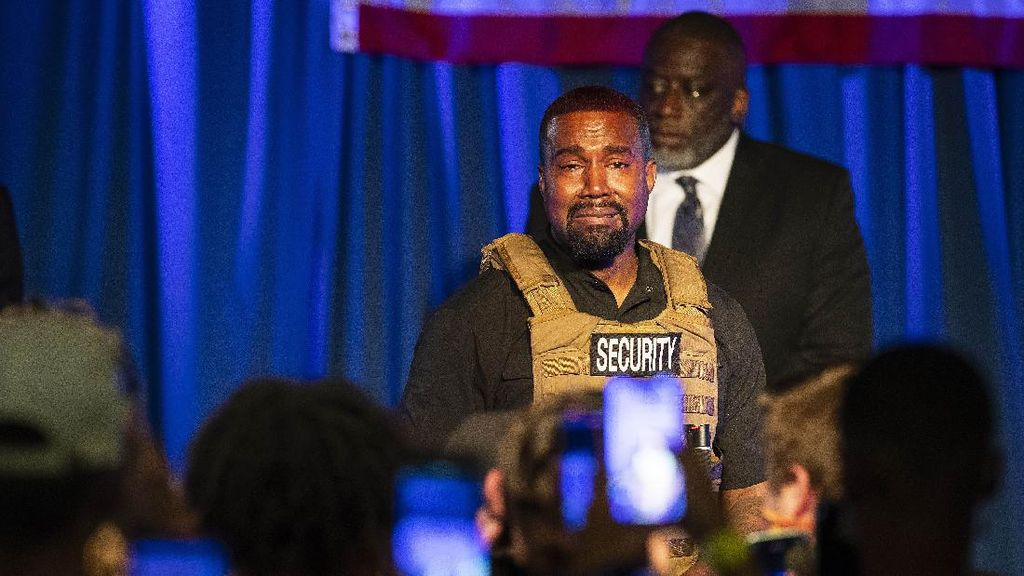 Maju Jadi Capres AS, Kanye West Pidato Sambil Menangis
