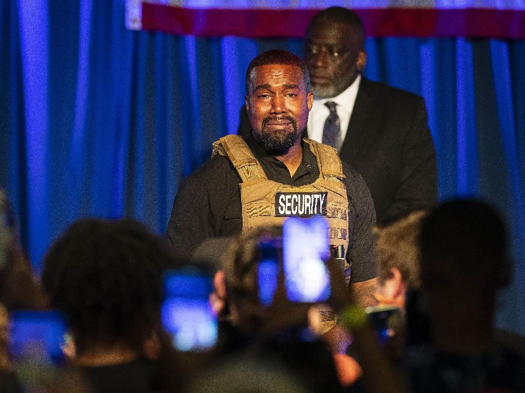Kanye West Cuma Dapat 60 Ribu Suara di Pilpres AS, Mau Maju Lagi di 2024