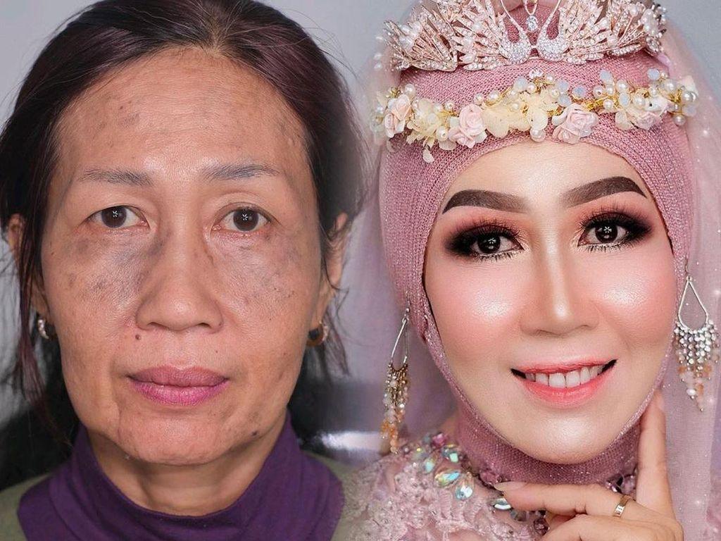 Viral, Makeup Artist Indonesia Bikin Wajah Nenek-nenek Jadi Bak Remaja
