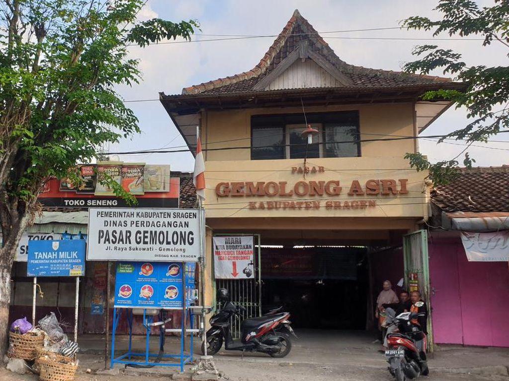Ada Pedagang Positif COVID-19, Pemkab Sragen: Pasar Gemolong Ditutup