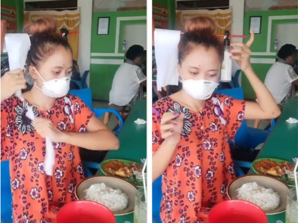 Wanita Ini Bagikan Tips Kocak Cara Makan Anti Virus Corona