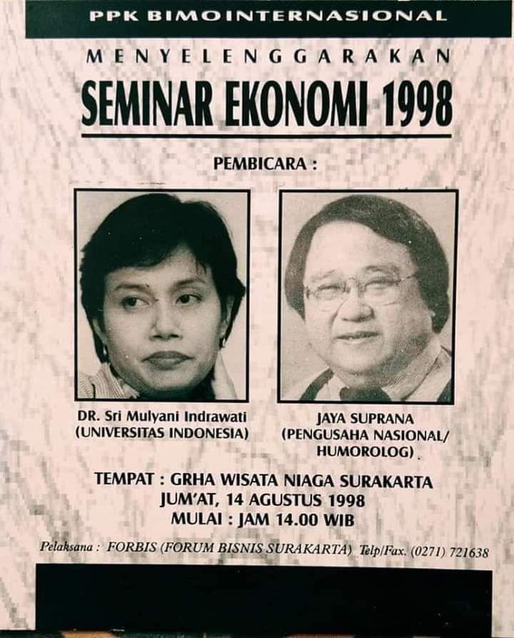 Viral! Foto Jokowi Jadi Panitia Seminar, Sri Mulyani Narasumbernya