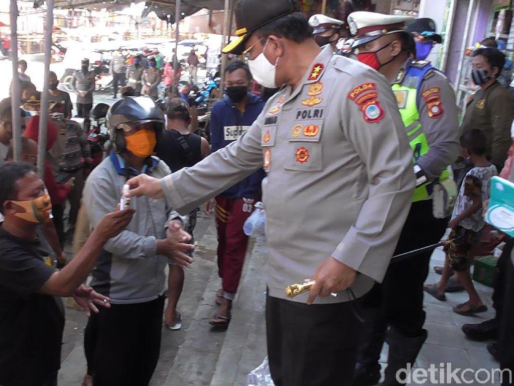 Operasi Pasar, Kapolda Gorontalo Geram Banyak Warga Tak Bermasker