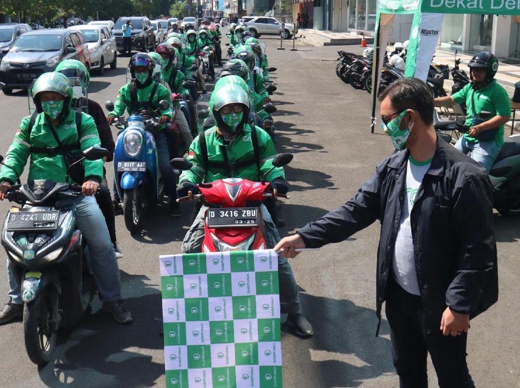 Pakai Protokol Kesehatan, GrabBike Mulai Beroperasi Lagi di Bandung