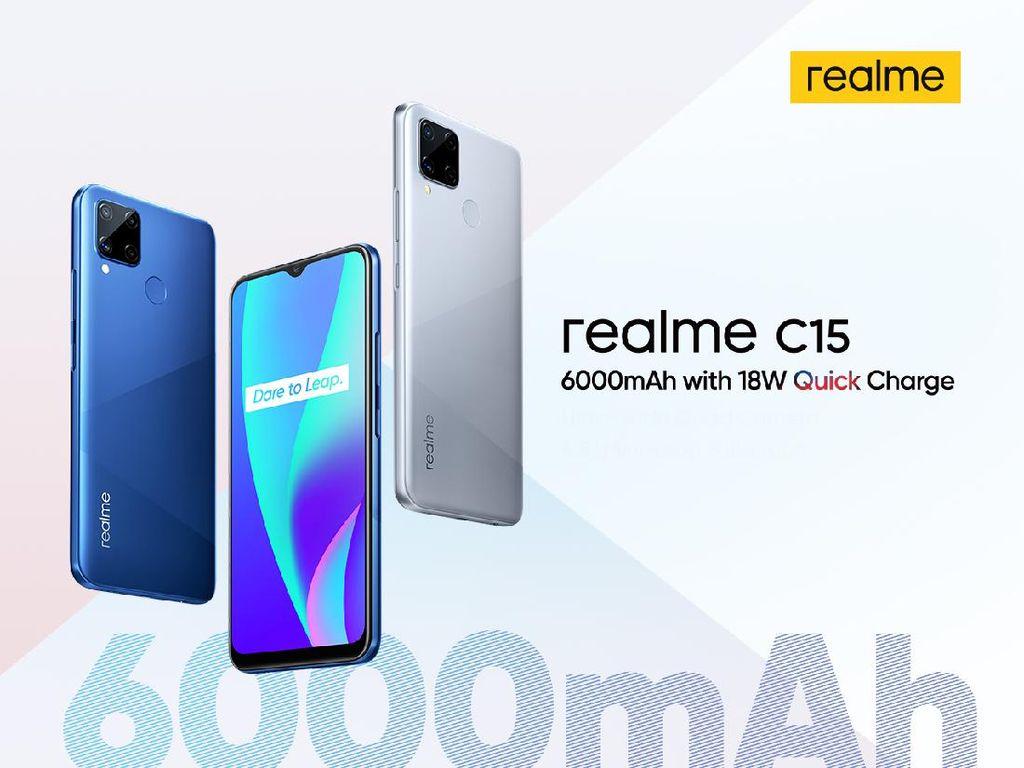 Lahir di Indonesia, Realme C15 Unggulkan Baterai 6.000 mAh