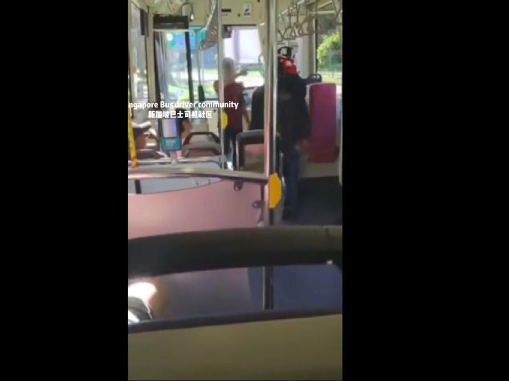 Tak Pakai Masker, Penumpang Bus Ini Malah Ngamuk Saat Ditegur