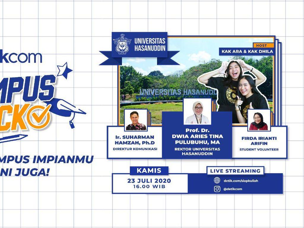 Sambut Para Calon Mahasiswa, Unhas Tampil di Kampus Check detikcom!