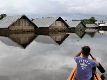 Foto Konawe yang Terendam Banjir Setinggi 4 Meter