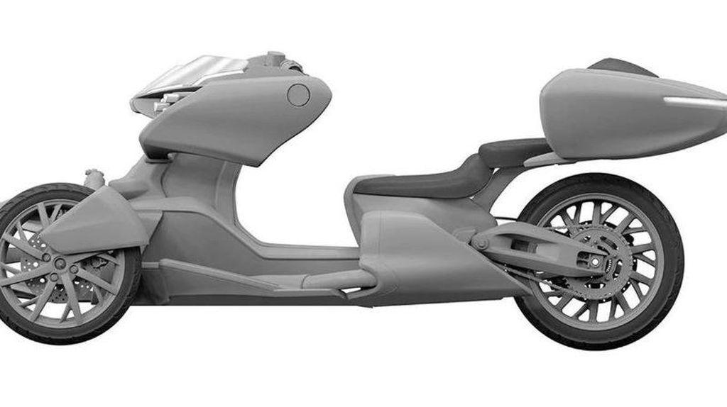 Potret Motor Hybrid Konsep Yamaha yang Mirip Desain Motor Anime