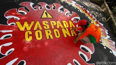 Mural waspada corona hiasi jalan di solo 169