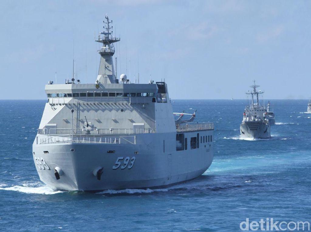 Potret TNI AL Gelar Latihan Operasi Gabungan