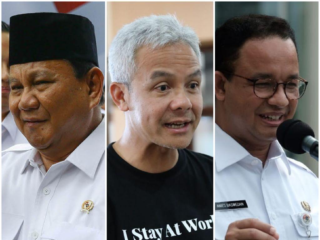 Ganjar Teratas di Survei Pilpres IPO, Disusul Prabowo-Anies