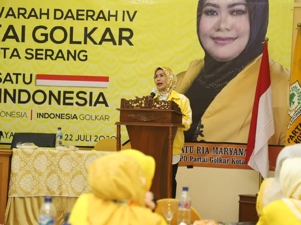 Ratu Tatu Sebut Ketum Golkar Instruksi Kemenangan Pilkada 100% di Banten