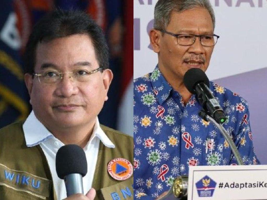 Beda 2 Jubir Pemerintah, Achmad Yurianto dan Wiku Adisasmito