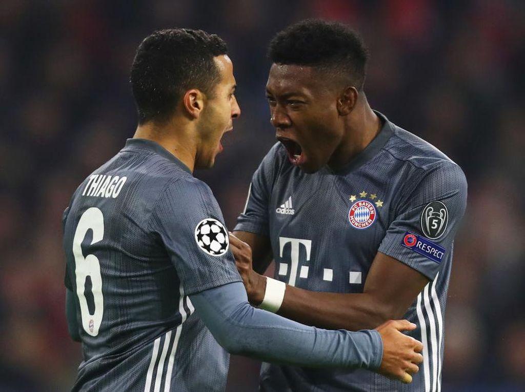 Bayern Tegaskan Belum Ada Tawaran untuk Thiago dan Alaba