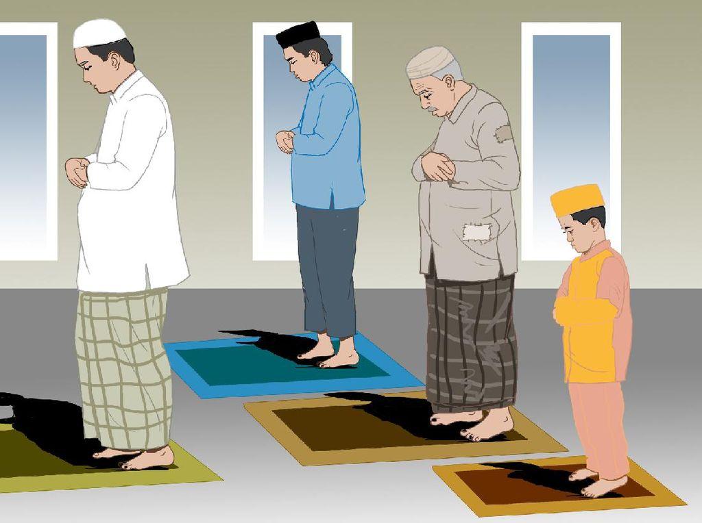 Saf Pertama, Lima Orang Sebelah Kanan Imam