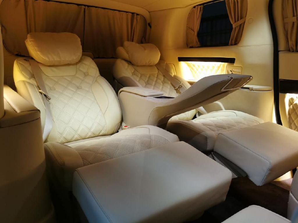 Mewahnya Interior Alphard Ala Private Jet, Ada Mini Bar hingga TV 40 Inci