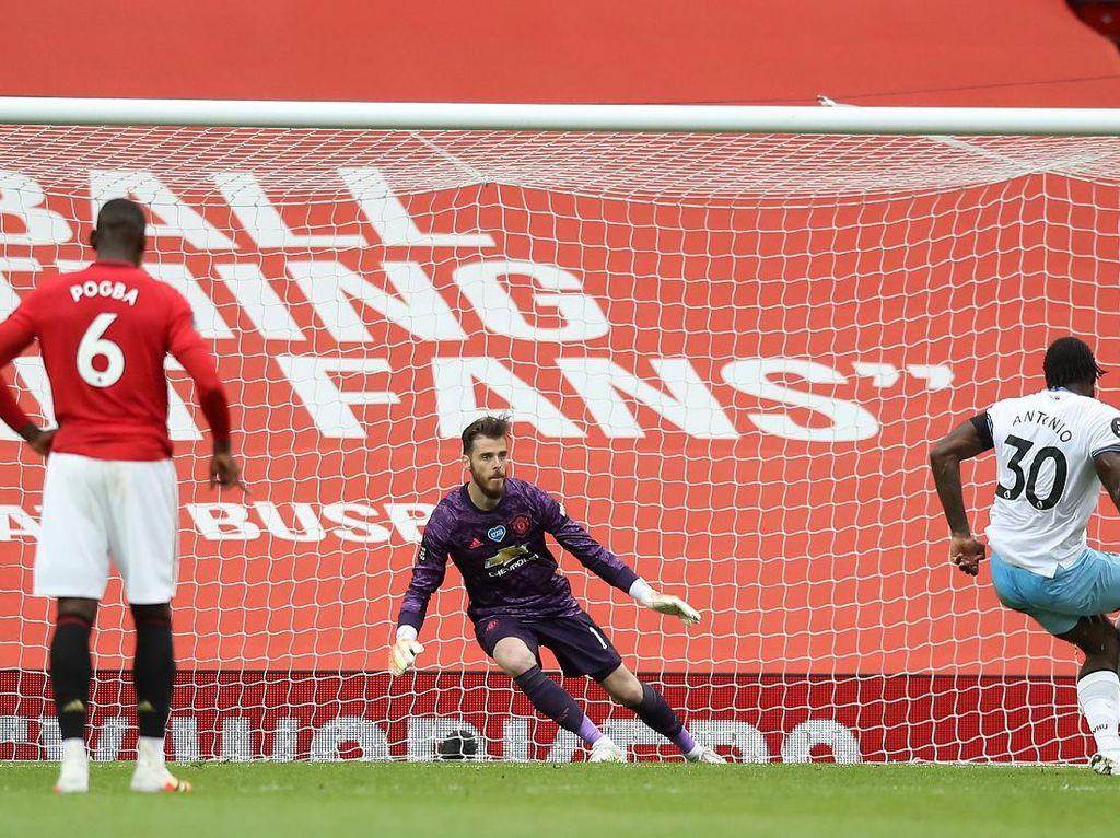 MU Tertinggal 0-1 dari West Ham di Babak Pertama