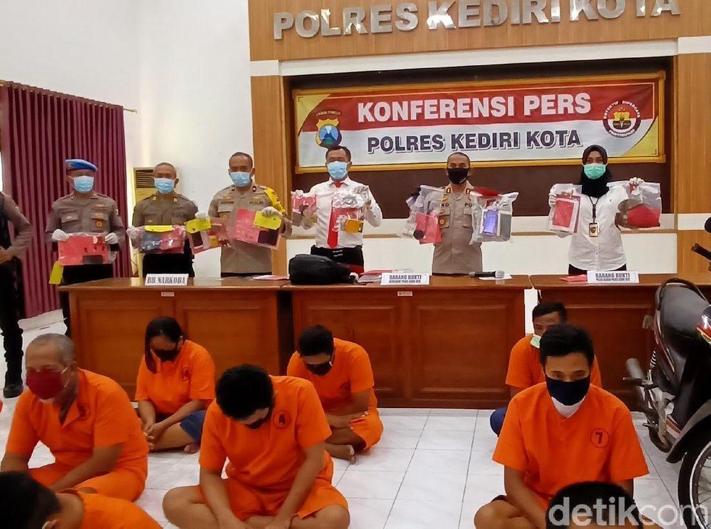 18 Bandit di Kota Kediri Dibekuk Dalam 1 Bulan
