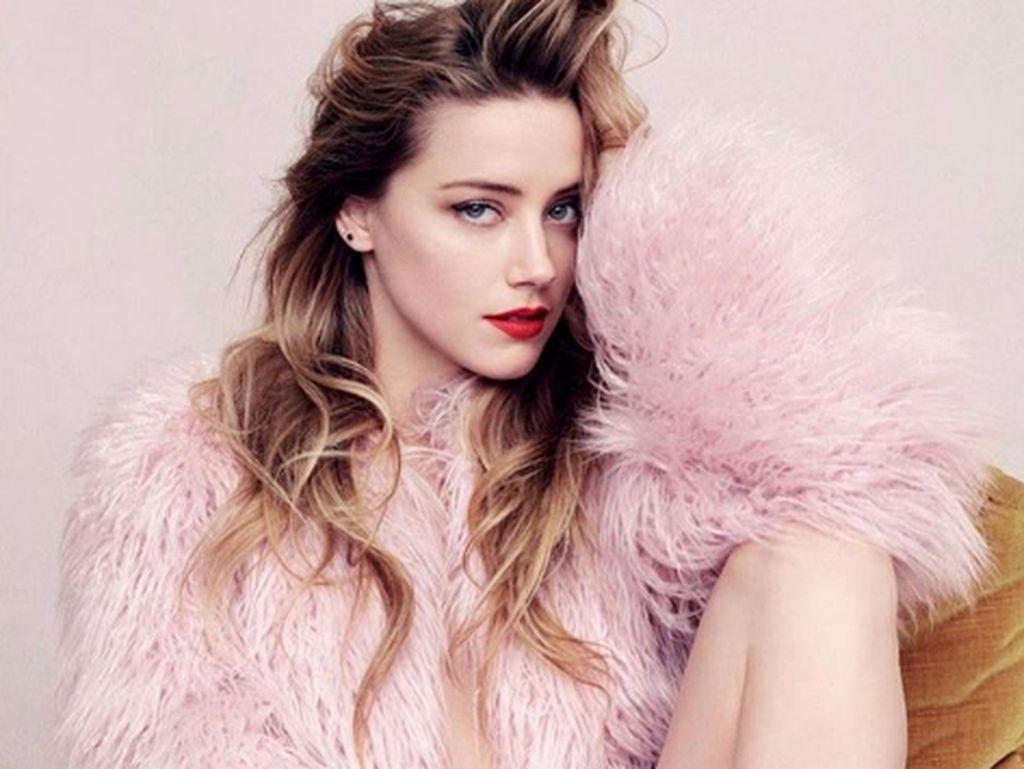 Mirip Young Lex, Amber Heard Bikin Luka Lebam dengan Makeup