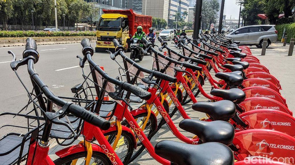 Asyik... Layanan Bike Sharing Hadir di Bundaran HI