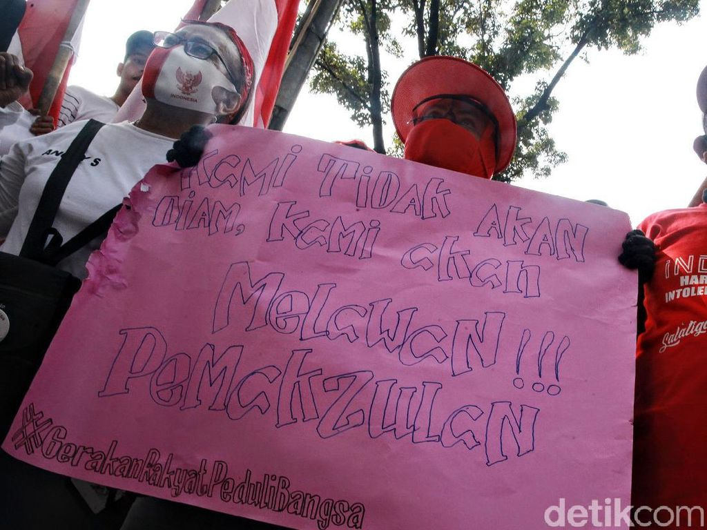 Demo Menolak Gerakan Radikal dan Makar di Kemenko Polhukam