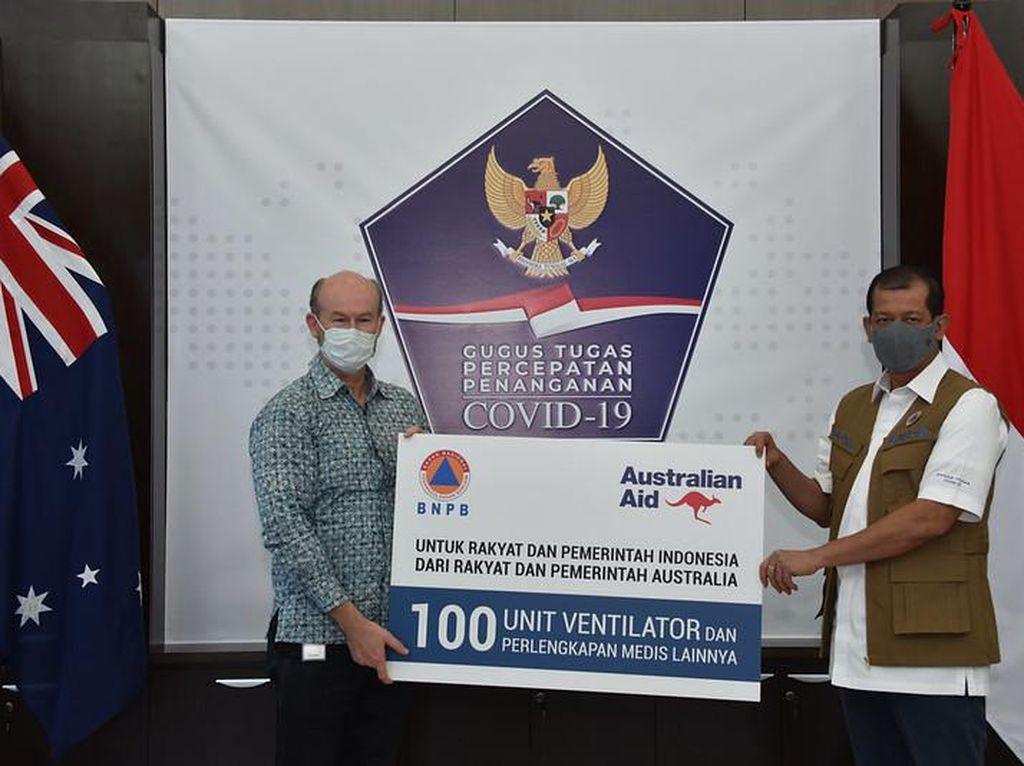 Bantu Indonesia Lawan Corona, Australia Serahkan 100 Ventilator