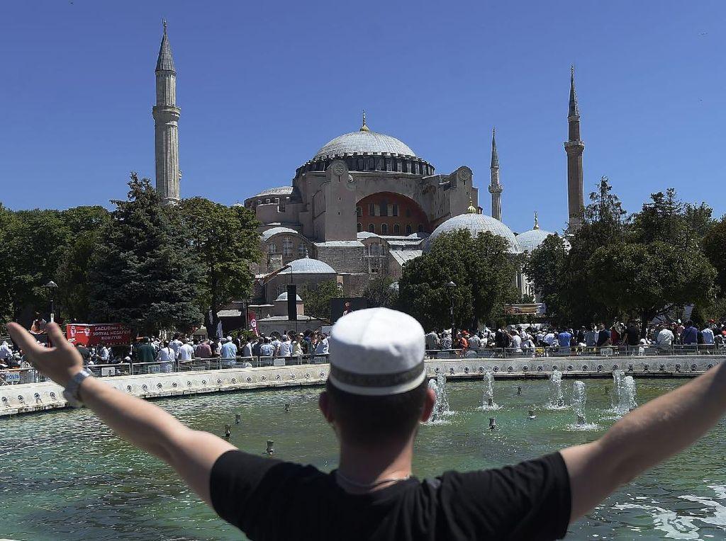 Balas Turki, Suriah Bangun Replika Hagia Sophia Versi Mini