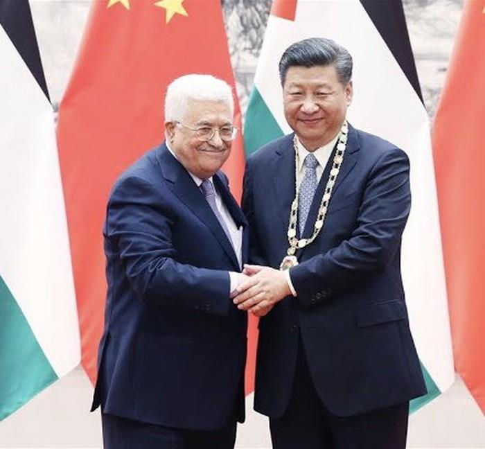 Presiden China Xi Jinping dan Presiden Palestina Abbas (Dok. China Mission to UN)