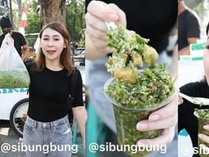 Huah! Wanita Ini Berani Makan Tahu Gejrot 130 Cabe