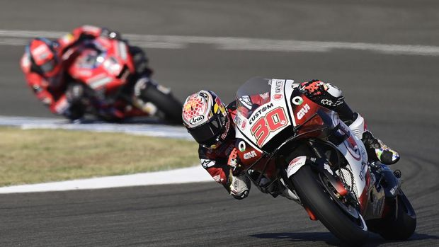 LCR Honda IDEMITSU's Japanese rider Takaaki Nakagami rides during the first MotoGP free practice session of the Andalucia Grand Prix at the Jerez racetrack in Jerez de la Frontera on July 24, 2020. (Photo by JAVIER SORIANO / AFP)