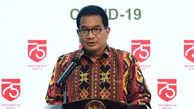 Jubir pemerintah Wiku Adisasmito memberi keterangan, Jumat (24/7) / Foto: Rusman - Biro Setpres