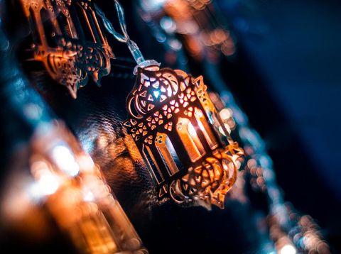 Islamic background Ramadan Decoration 2020 image, Colorful lantern Lamp hanging design, Eid Mubarak Backgroind