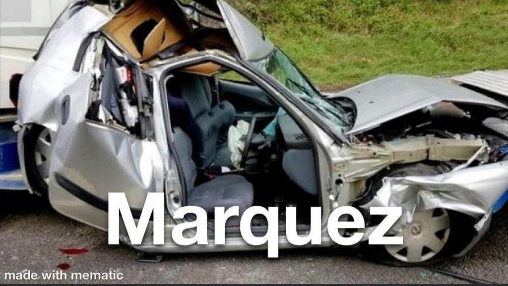 Meme-meme Kocak Marquez Tampil di MotoGP Andalusia Usai Patah Lengan