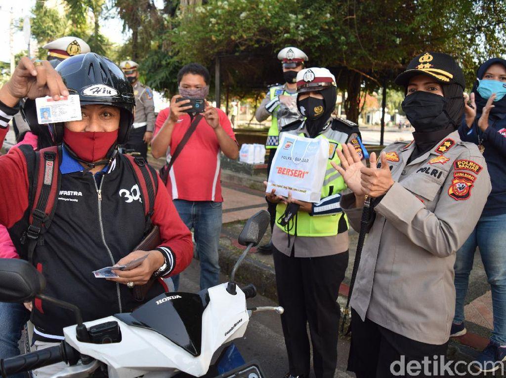 Operasi Patuh Lodaya di Banjar, Pengendara Patuh Dapat Hadiah