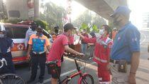 Tak Pakai Masker, 3 Pengunjung CFD JLNT Antasari Disanksi Bersihkan Jalan