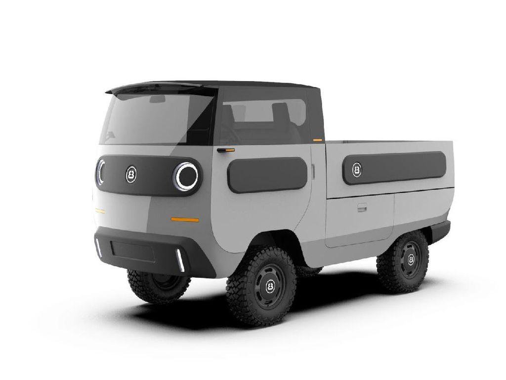 Mirip Carry Jadul, Mobil Listrik Ini Bisa Jadi Pikap dan Mobil Penumpang
